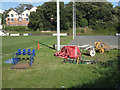 SX9372 : Equipment on Teignmouth RFC's rugby ground by Robin Stott