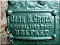 "H4571 : Inscription, ""John H Crook"", Omagh Cemetery by Kenneth  Allen"