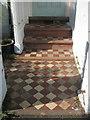 SX9372 : Cream and terracotta tiles, Alexandra Terrace by Robin Stott