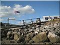 SX9372 : Rock armour, Polly Steps, Teignmouth by Robin Stott