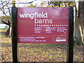 TM2276 : Wingfield Barns sign by Geographer