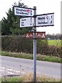 TM2280 : Roadsign at Wingfield Road junction by Geographer