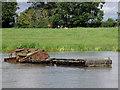 SJ6871 : Sunken boat in Billinge Green Flash, Cheshire by Roger  Kidd