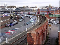 NZ2463 : Cross Country train approaches Newcastle Central by Andrew Curtis