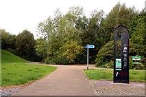 SJ8748 : Cycle path in Festival Park by Steve Daniels