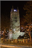 TM3389 : Bungay St Mary's Church tower at night by Glen Denny