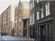 TQ3480 : The Captain Kidd and Phoenix Wharf, Wapping High Street, E1 by Mike Quinn