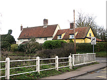 TM1763 : Cottages in Aspall Road, Debenham by Evelyn Simak