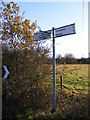 TM2775 : Roadsign at White Post Corner by Adrian Cable