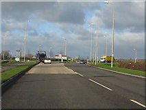 SK0418 : Station Road roundabout, Rugeley by Peter Whatley