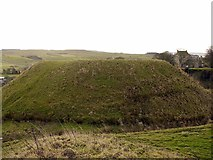 NY9393 : Elsdon motte from the bailey by Andrew Curtis