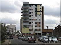 TQ1883 : Atlip Road with new flats of Alperton Village by David Hawgood