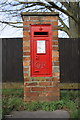 SU4798 : Benchmark on letter box, Faringdon Road by Roger Templeman