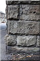 SE3406 : Benchmark on railway bridge, Old Mill Road by Roger Templeman