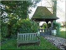SU5355 : All Saints, Hannington: lych gate by Basher Eyre