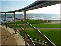 TQ7407 : Sea view from the De la Warre Pavilion, Bexhill by nick macneill