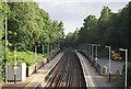 SU9855 : Footbridge over the line, Worplesdon by N Chadwick