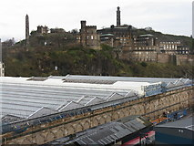NT2674 : Waverley Station, St Andrew's House and Calton Hill by M J Richardson