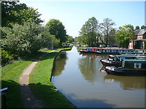 SJ9922 : View west along the Staffordshire & Worcestershire Canal at Great Haywood by Colin Park