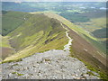 NY1922 : The path descending eastwards from Grisedale Pike by Colin Park