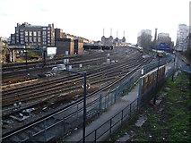 TQ2878 : The lines into Victoria by Marathon