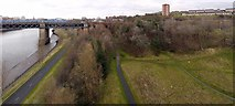 NZ2463 : Gateshead Riverside Park from the Redheugh Bridge by Andrew Curtis