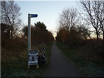SE6045 : Sign to Vicarage Lane by DS Pugh