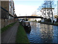 TQ2382 : Footbridge 4ab Paddington Arm - within Portobello Dock complex by David Hawgood