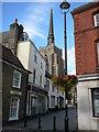 TM0458 : View from Ipswich Street towards Stowmarket Parish Church by Colin Park