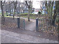 TQ2482 : Paddington Arm, access to Meanwhile Gardens and Kensal Road by David Hawgood