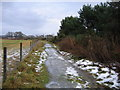 NH5348 : Icy track near Windhill by Craig Wallace
