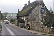 SY2591 : Axmouth : Church Street B3171 by Lewis Clarke