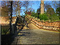 SJ4066 : Cobbled path and steps near The Groves by Jeff Buck