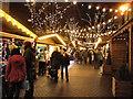 SJ8398 : Brazennose Street Christmas Market by David Dixon
