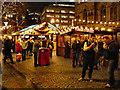 SJ8398 : Manchester Christmas Market, Albert Square by David Dixon