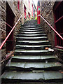 NZ2563 : Battery Stairs by Richard Croft