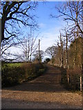 TM3667 : The entrance to Brick Kiln Farm by Adrian Cable