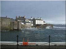 SC2667 : Cottages beside Castletown Harbour entrance by Richard Hoare