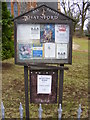 TG2219 : Notice Board of All Saints Church, Haynford by Adrian Cable