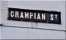 J3674 : Grampian Street sign, Belfast by Albert Bridge