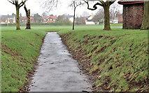 J3774 : Path and grass, Belfast by Albert Bridge