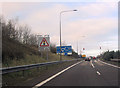 SO9773 : M42 junction 1 slip road at Lickey End by John Firth