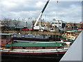 SE3320 : Boatyard on the River Calder by John Goldsmith