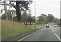 SO9064 : A38 south at Chateau Impney Hotel entrance by John Firth