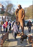 TA1280 : 12 feet high sculpture, Coble Landing, Filey by Pauline E