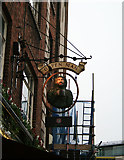 """TQ2882 : Sign for """"The Green Man"""" by David Lally"""