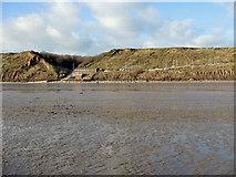 TA1281 : Cliffs and sailing club, Filey by Pauline E