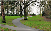 J3773 : Park path, Belfast (2) by Albert Bridge