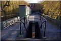 SP0483 : Footbridge over Ring Road North, University of Birmingham by Phil Champion