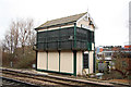 SK9771 : East Holmes Signal Box by Richard Croft